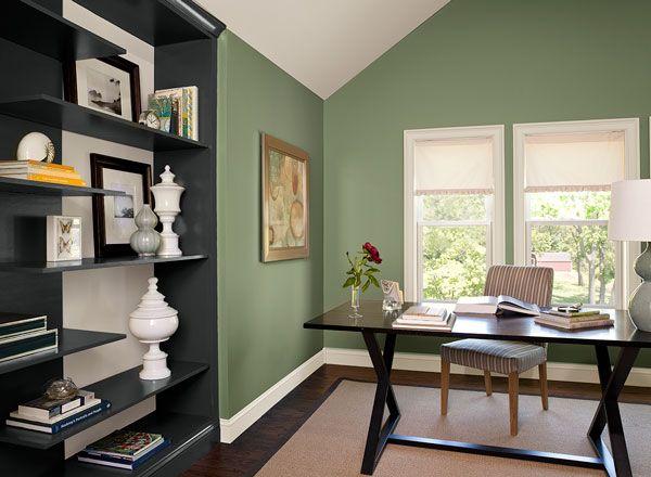 Colour trends 2015 benjamin moore high park in a sleek for Benjamin moore office