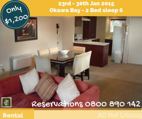Last School Holiday Week - Resort Rental up for grabs 23rd - 30th Jan 2015  www.time-shares.nz/for-rent.html