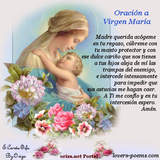 Oración a la Virgen María.Oraciones católicas cortas - Buscar con Google