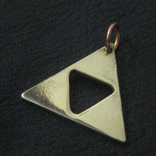 Bronze Triforce pendant