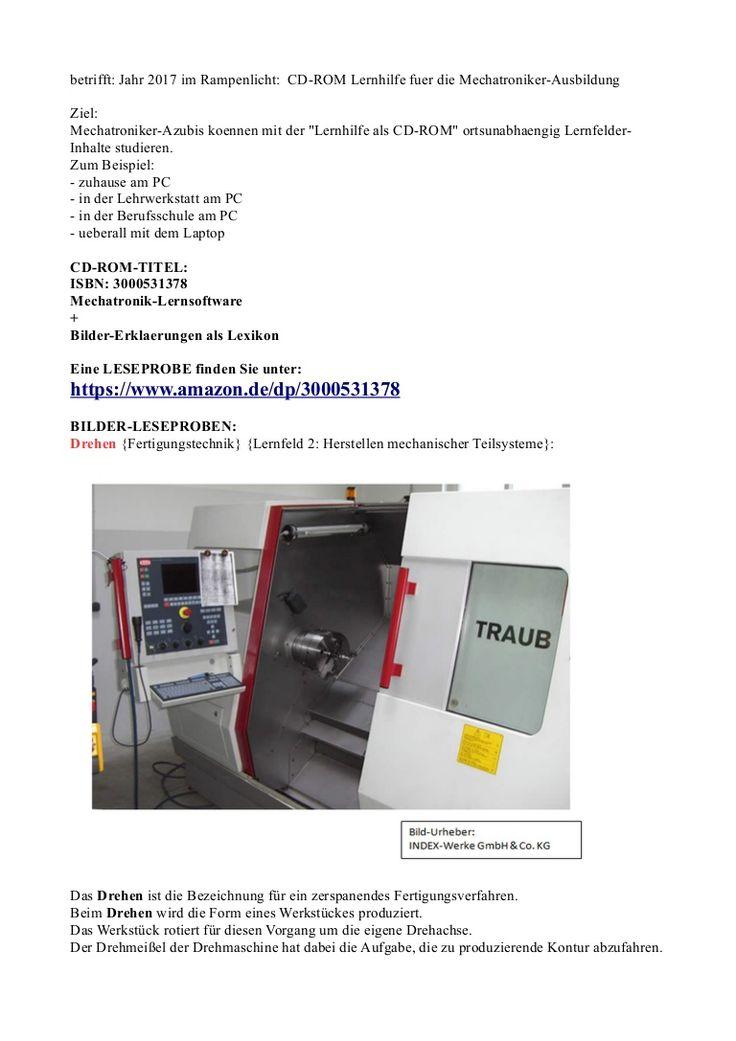 Im Rampenlicht 2017: Lexikon Mechatronik/ Fertigungstechnik (Bilder-Leseprobe zu Drehen Fraesen Bohren)