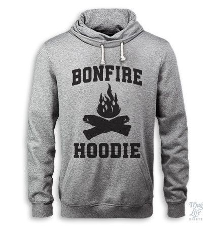 I can practically SMELL the woodsy, smokey residual bonfire scent of this hoodie.