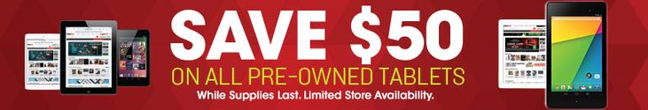 Save $50 on all Pre-Owned tablets at Game Stop! | Get FREE Samples by Mail | Free Stuff