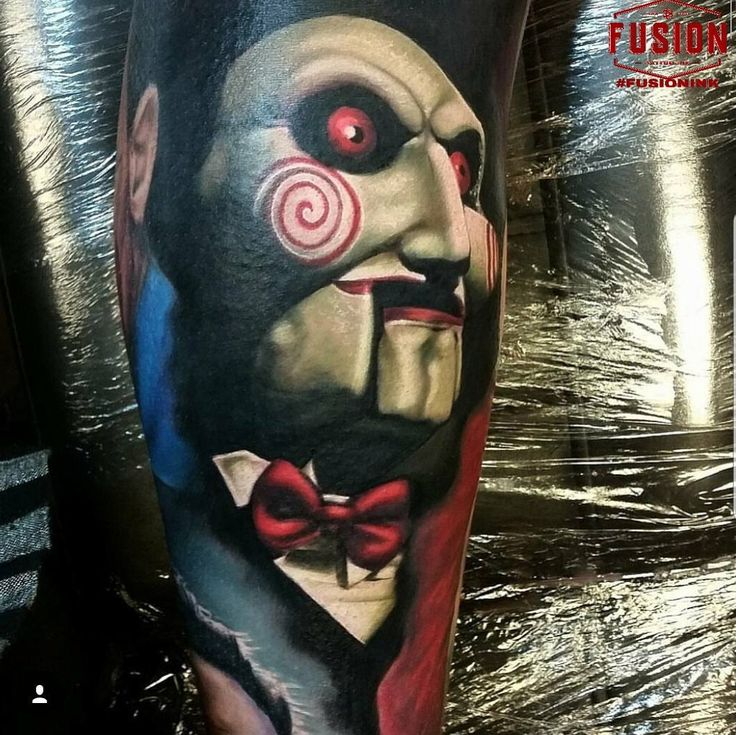 Want to play a game ? Super cool piece from #saw by @thealexwright using the best #FUSIONINK #fusionfamily #fusiontattooink #tattoos #tattoo #tattooed #artist #bright #tattooartist #tattooink #ink #inkedup #skinartmag #amazingink #tattoolife #supportgoodtattoos #stencilanchored #bold #tattooing #veganink #instatattoo #cleantattoos #inkedmag #tattooart #bodyart #sullen #tattooedpeople #tattoocommunity #tattooconvention