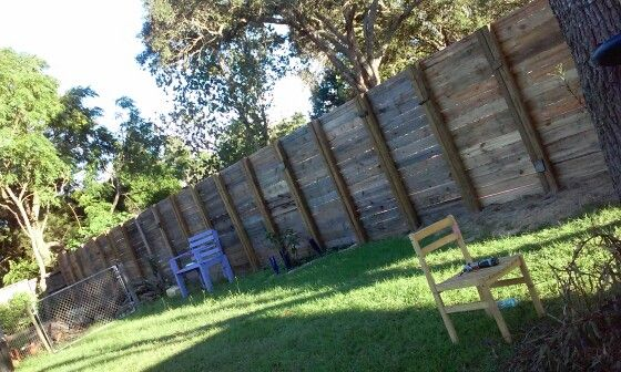8ft Privacy Fence Made From Pallets Goodbye Neighbor
