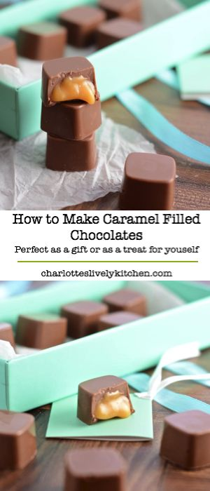 Caramel filled chocolates – Perfect as a gift or simply an indulgent treat for yourself. Find out how to make them yourself with this step-by-step tutorial.