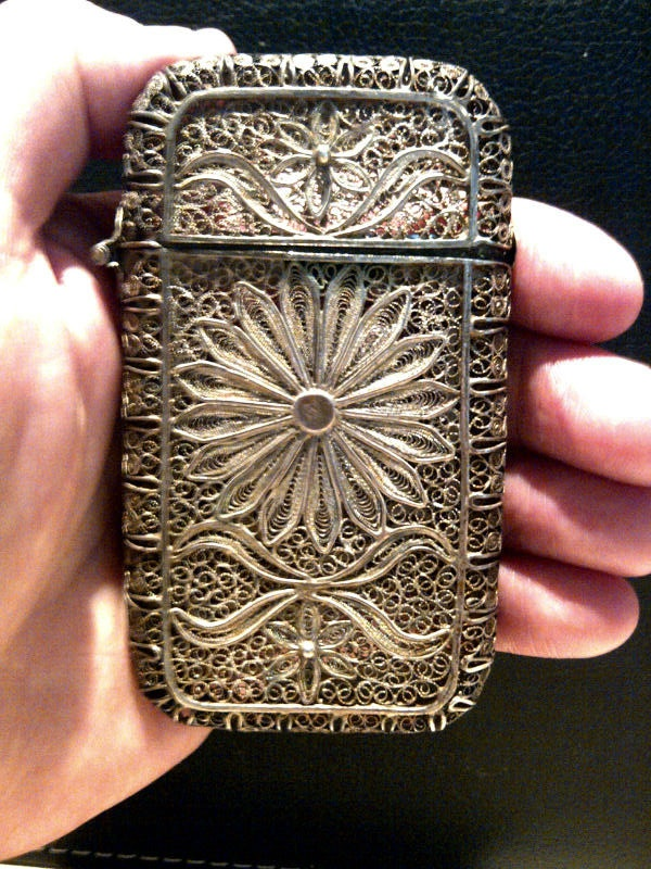 206 best Antique Card Cases images on Pinterest | Calling cards ...