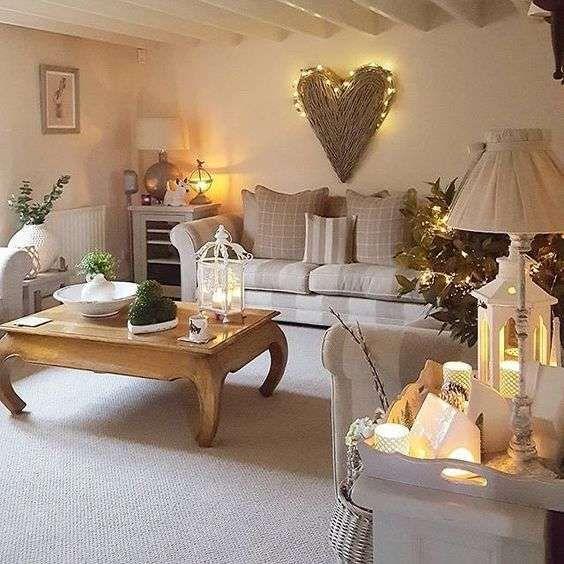 Idee per arredare un soggiorno in stile shabby chic (Foto ...
