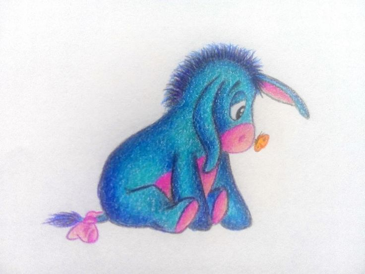 """Foto: """"Eeyore """" draw by me  <<""""Eeyore,"""" said Owl, """"Christopher Robin is giving a party."""" """"Very interesting,"""" said Eeyore. """"I suppose they will be sending me down the odd bits which got trodden on. Kind and Thoughtful. Not at all, don't mention it."""">> #winniethepooh #eeyore #depresseddonkey"""