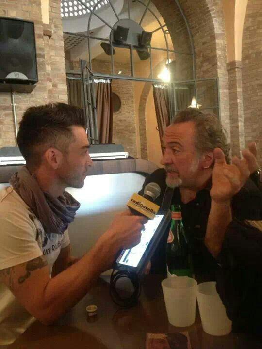 Antonio Rigo Righetti con Gianni Corelli