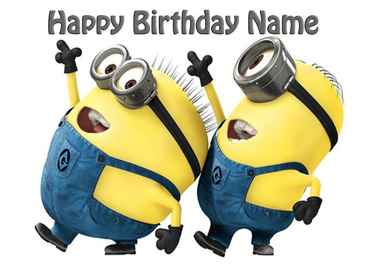 Minions Edible Icing Cake Topper Personalised Party