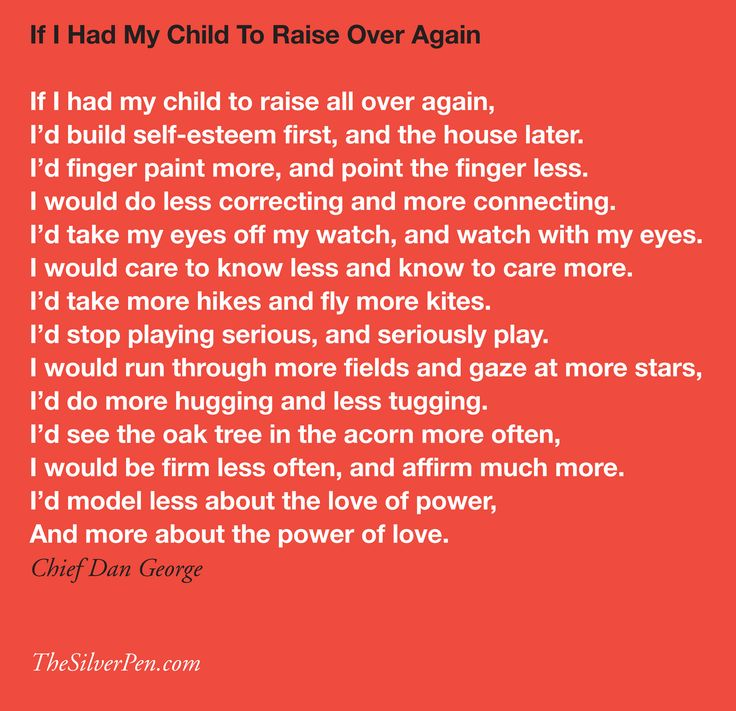 If I had my child to raise all over again by Chief Dan George