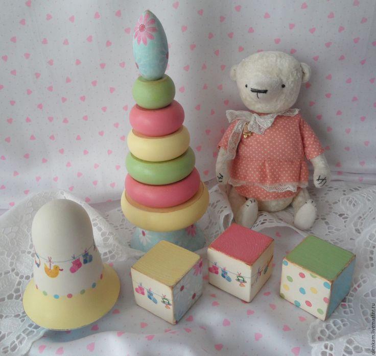"""Купить Детский набор """"Весёленький"""" - разноцветный, детям, детская игрушка, пирамидка, музыкальная игрушка"""