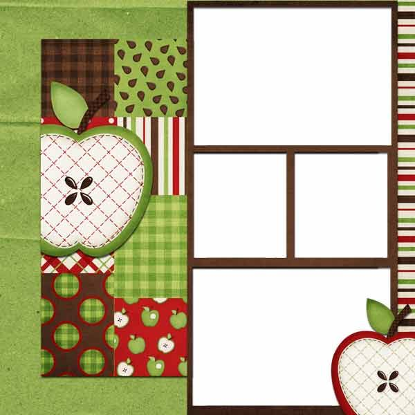 Apple-Picking Scrapbook Layouts | Apple picking quick pages