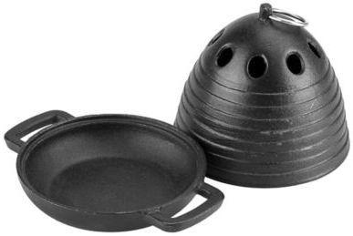 Just Grillin Cast Iron Garlic Roaster