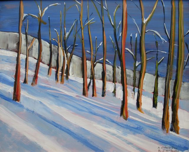 A Winter's day.  Acrylic