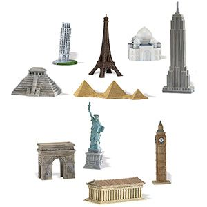 Around the World Miniatures for table centerpieces?