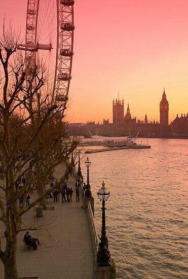 sunset in #london