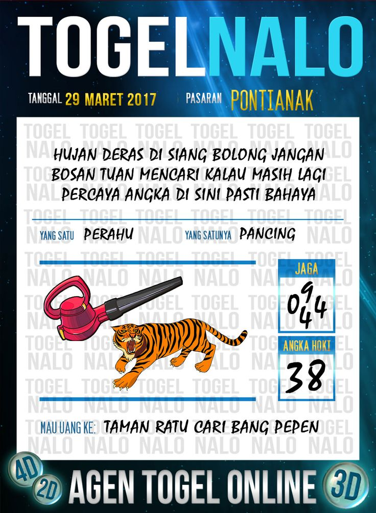 Kode Jitu 6D Togel Wap Online TogelNalo Pontianak 29 Maret 2017