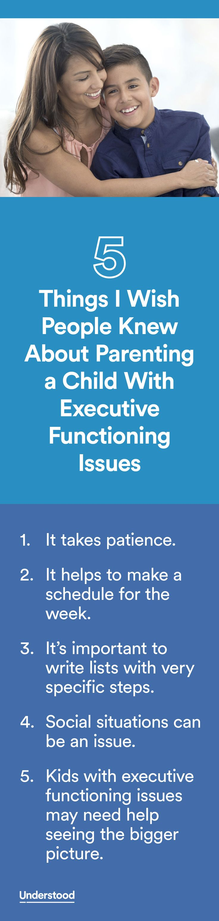 """""""When we learned Michael had executive functioning issues, everything started to make sense. We began to figure out what we needed to do each day to help our son better manage his challenges."""""""