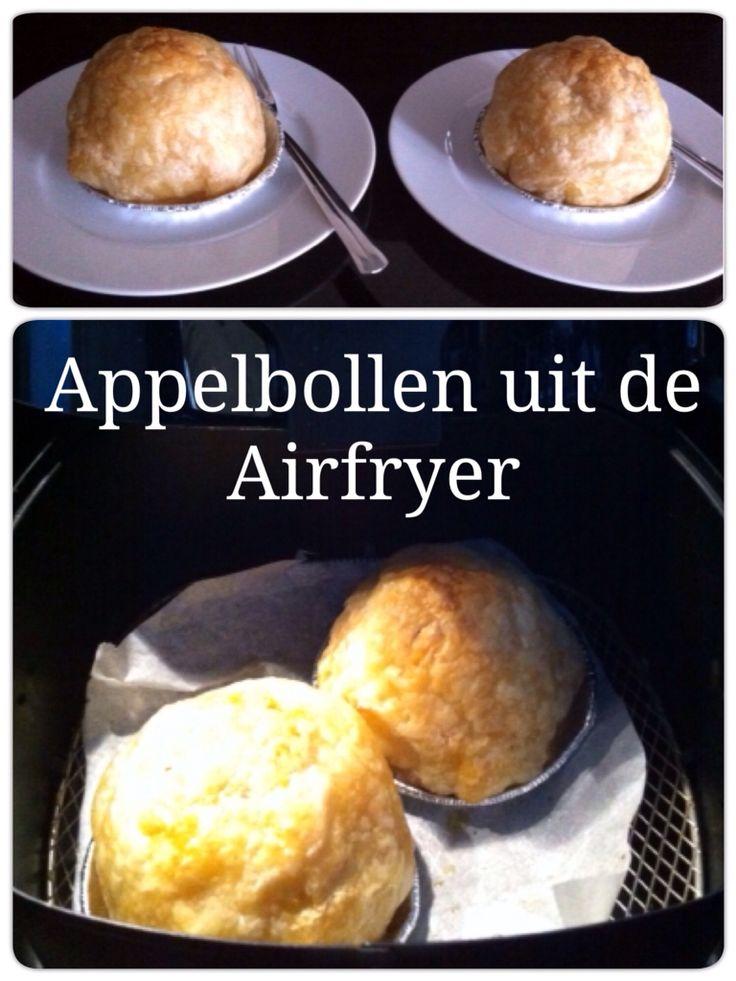 Appelbollen uit de Airfryer 20 minuten op 180 graden