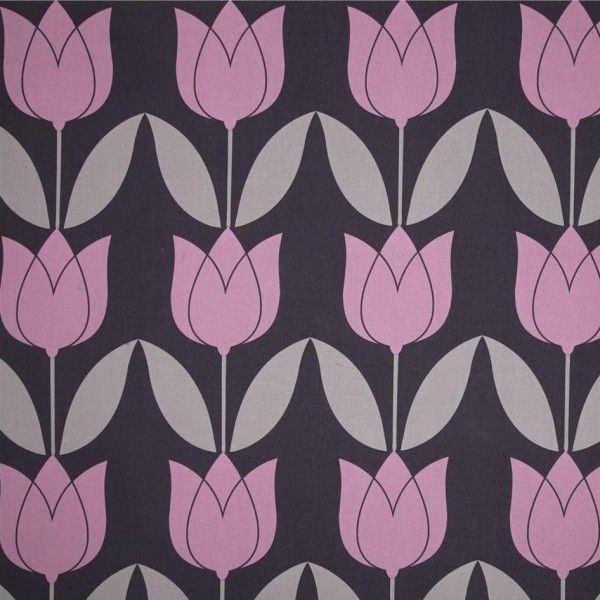 Michael Miller tulip purple. Cotton.
