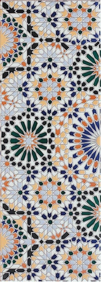 La colección Marrakech se inspira en el especial y fascinante Marruecos, con tonos cálidos y exóticos y cenefas que parecen auténticas obras arquitectónicas nos transporta directamente a las calles de Marruecos.
