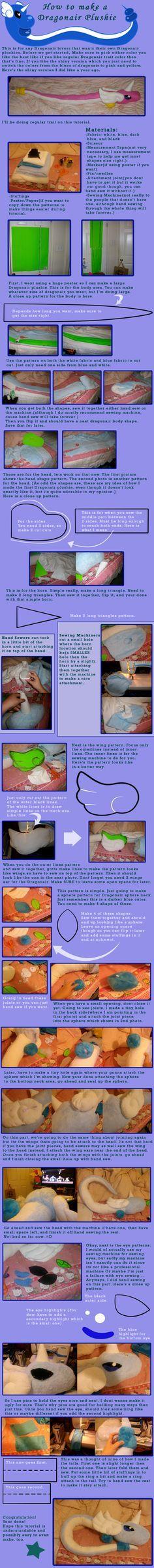 How to Make a Dragonair Plush by saiyamewome.deviantart.com on @deviantART