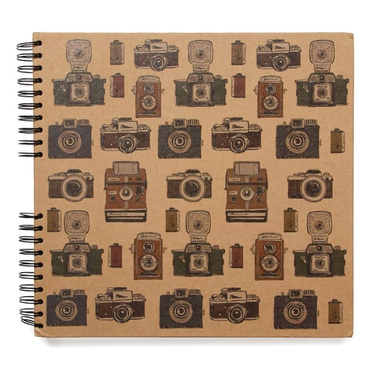 Retro cameras large scrapbook