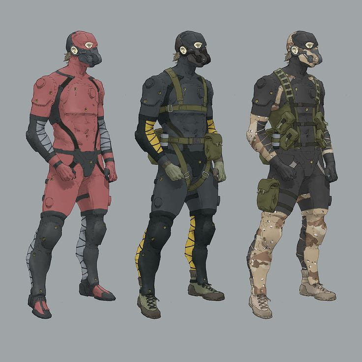 ///AjTron, 'Sneak' suit concept art for Metal Gear Online