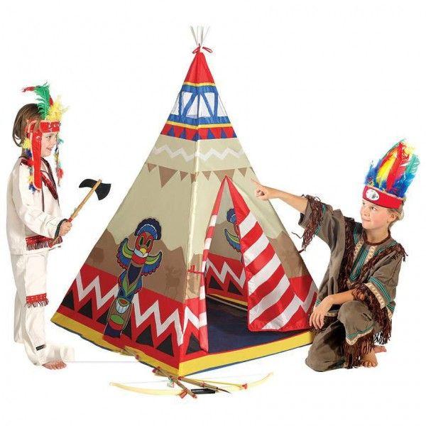 Tenda gioco Tipi Indiano per bambini, facile da montare e smontare!