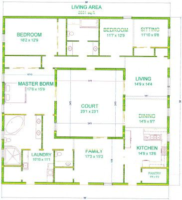 Grama sue 39 s floor plan play land olivia 39 s courtyard Cobb house plans
