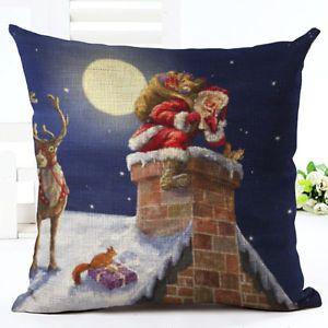 Cotton-Linen-Christmas-Style-Sofa-Waist-Cushion-Cover-Car-Pillow-Case-Cover-Gift
