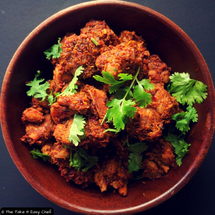 Kori Sukka (Mangalore Style Dry Chicken Curry) Recipe | The take it easy chef