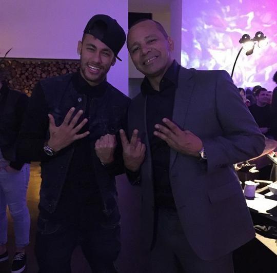 Neymar comemora aniversário em festa com Lionel Messi e amigos