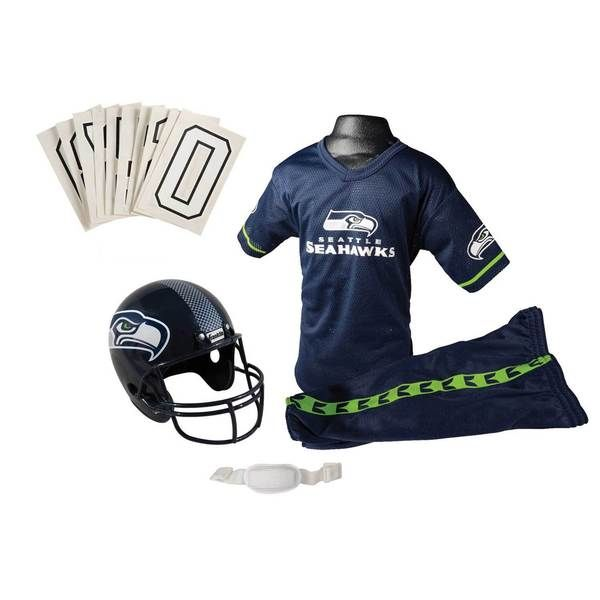 Franklin Sports NFL Seattle Seahawks Complete Youth Football Uniform Set