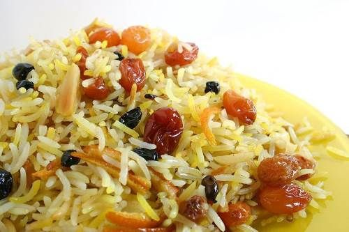 Рис золотистый ароматный к уточке с виноградом | Островок Гурмания