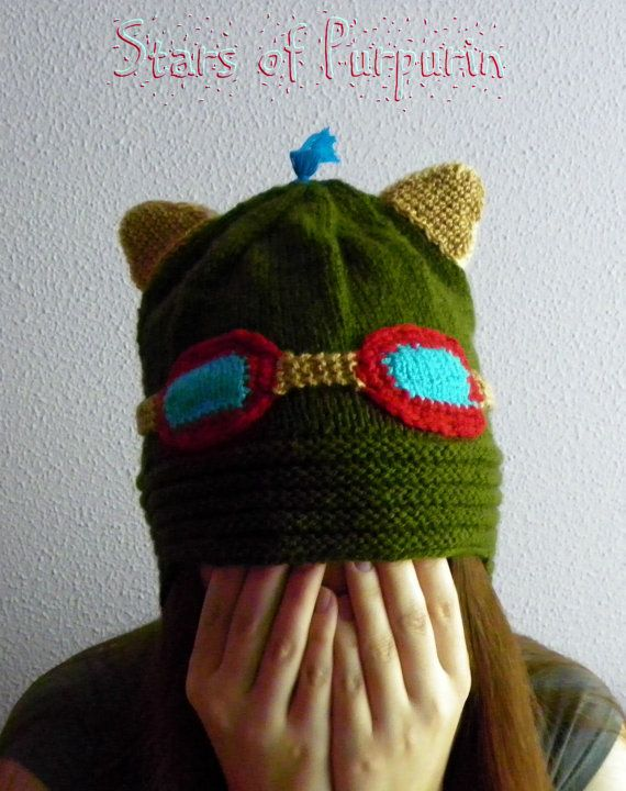 Teemo Gorro/Hat  League of Legends  LOL por StarsOfPurpurin en Etsy