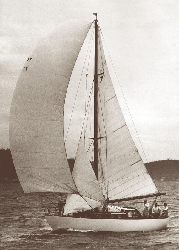 Anitra, built and sailed by Halvorsen brothers, Brothers Trygve and Magnus, winners of many Sydney Hobart Yacht Races.