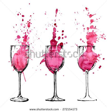 Wine illustration - sketch and art style - stock vector
