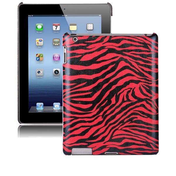 Zebra Fashion (Rød) iPad 3 Deksel