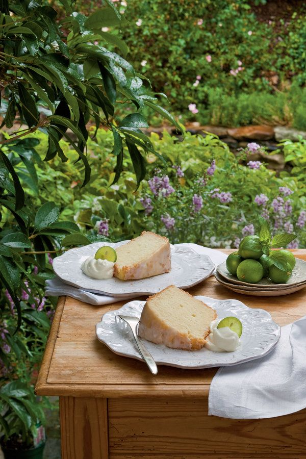 Dress up traditional pound cake with a little lime zest and a homemade Key lime glaze for a deliciously tropical dessert.    Recipe:Key Lime Pound Cake