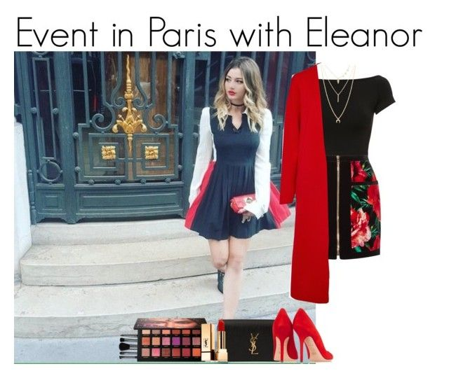"""Event in Paris with Eleanor"" by mllestylesusa ❤ liked on Polyvore featuring Helmut Lang, Balmain, Winser London, Yves Saint Laurent, Illamasqua, Lucky Brand, Huda Beauty and Tamara Mellon"