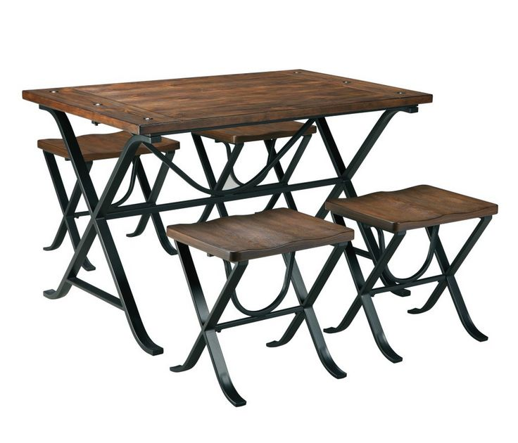 Industrial 5 Piece Dining Table Set Stuff For Home