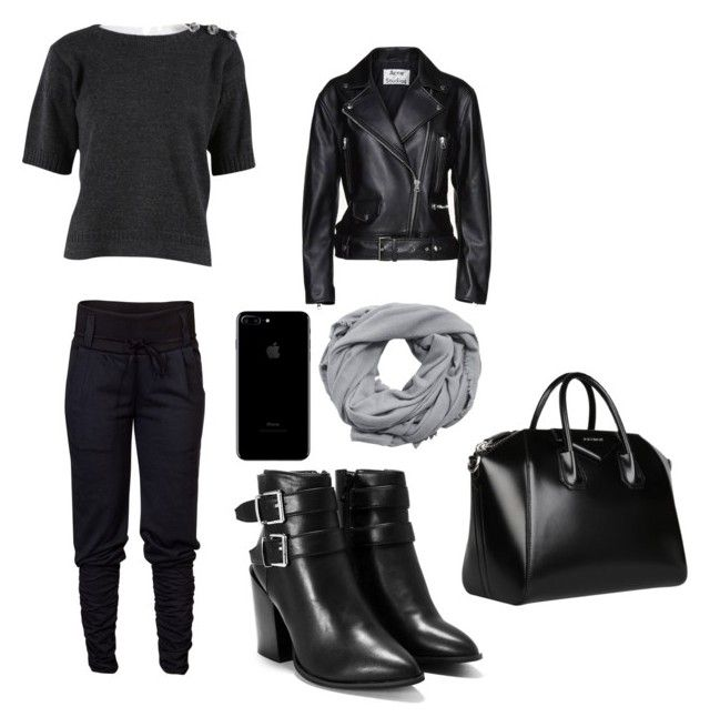"""Untitled #24"" by iuliacalin on Polyvore featuring Louis Vuitton, Nasty Gal, Acne Studios, Givenchy and MANGO"