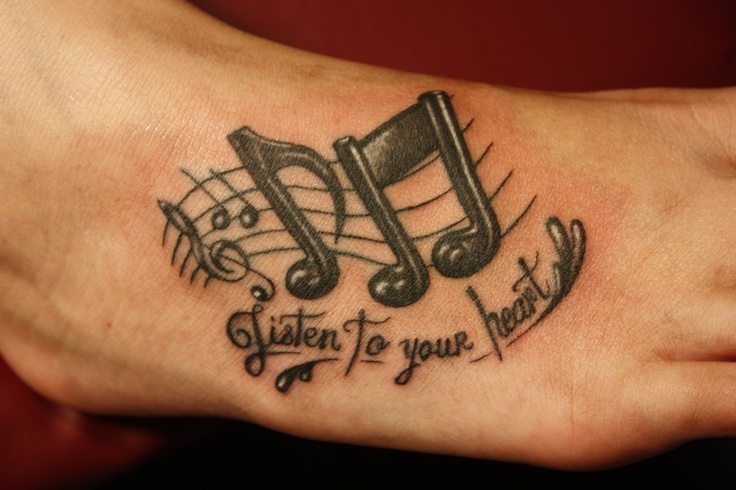 Music Notes Tattoo i might actually get this!!