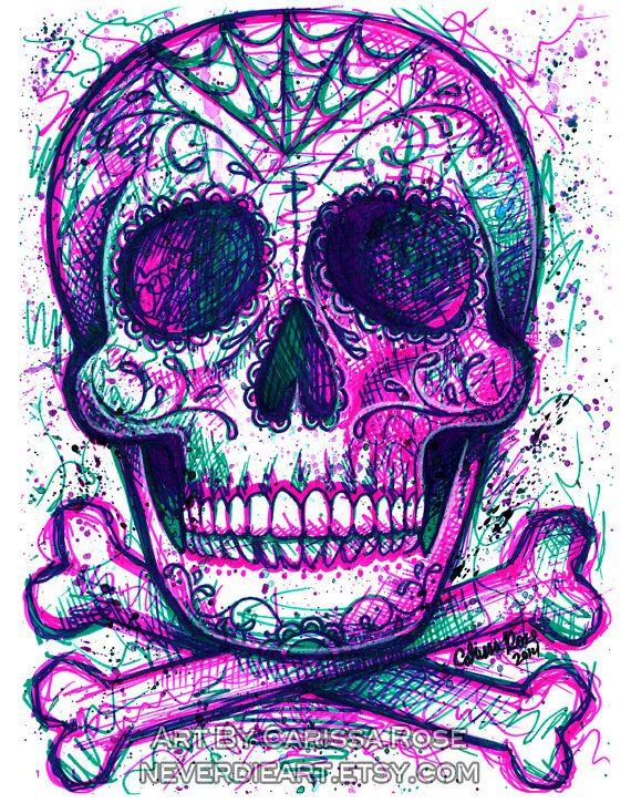 Sugar Skull Canvas Painting | Dia de Muertos, Day of the Dead ...