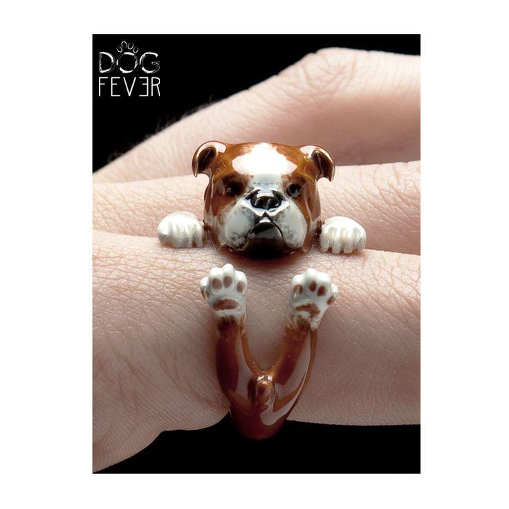 Special Coating Hug Ring  #englishbulldog #bulldog