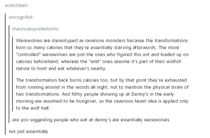 Essentially werewolves