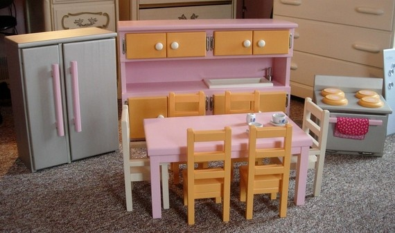 17 best images about american girl doll kitchen on for Doll kitchen set